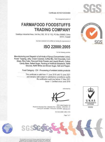 Certificate | Farmafood